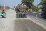 PELEBARAN JALAN: Proyek Pelebaran Jalan Solo-Sragen Dikeluhkan Warga
