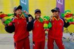 PON XVIII: Tim Putri Panjat Tebing Jateng Sabet Medali Emas Nomor Speed Track