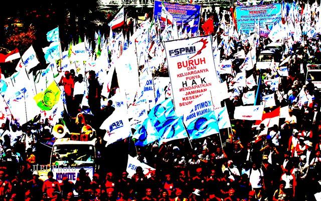 DEMO BURUH: Tak Direspons, Buruh Ancam Kerahkan 10 Juta Buruh Berdemo