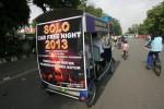 CAR FREE NIGHT SOLO: Malam Tahun Baru Pakai Sepeda Angin Saja...