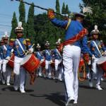 Drum Band Akmil, Meriahkan Kirab Pembukaan Praja Bhakti Taruna Akmil di  Purbalingga.