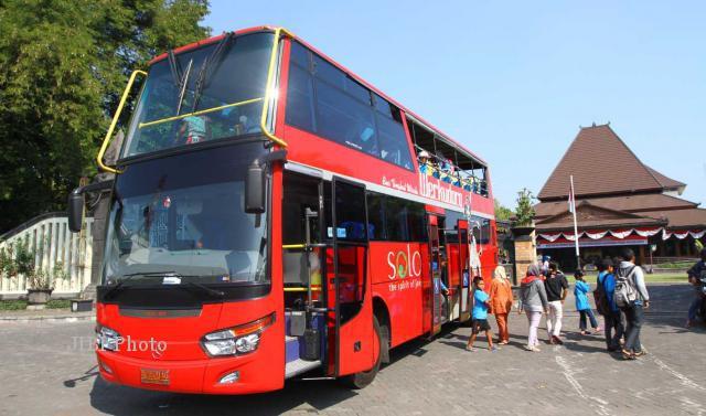 Hore, Bus Tingkat Werkudara Solo Sudah Boleh Masuk Wilayah Sukoharjo