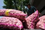 KOMODITAS PANGAN : Stok Bawang Putih Diduga Ditahan Pedagang Besar