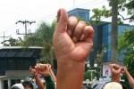 Ilustrasi demonstrasi (Bisnis-Andi Rambe)