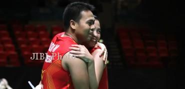 Pasangan ganda campuran Indonesia, Markis Kido/Pia Zebadiah. (dokJIBI/SOLOPOS/Badmintonindonesia.org)