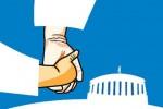 Ilustrasi politik dinasti (outlookindia.com)