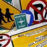 MUDIK LEBARAN 2013 : Urai Kemacetan, 14 Rambu Lalu Lintas Dipasang