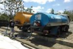 Ilustrasi tangki penjual air bersih di Wonogiri