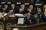 PIDATO KENEGARAAN : Anggota DPRD Klaten Manggkir Dengarkan Pidato SBY