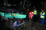 KECELAKAAN BOYOLALI : Bus Safari Tabrak Truk dan Innova, 5 Orang Terluka