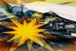 KECELAKAAN DI KLATEN : Hindari Tabrakan, Mobil Boks Terguling di Wonosari
