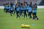 JELANG INDONESIA VS IRAK : Tanpa Suporter, Timnas Tetap Maksimal