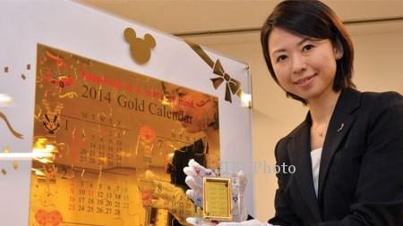 KISAH UNIK : Wow, Kalender 2014 Berbahan Emas Ini Harganya Rp11 Miliar