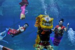 FOTO TAHUN BARU IMLEK : Barongsai Dalam Air