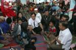 FOTO PENGUNGSI SINABUNG : JK Kunjungi Pengungsi Sinambung