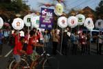 FOTO CAR FREE DAY : Ajak Pemilih Pemula Ikut Pemilu
