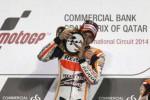 MOTO-GP QATAR 2014 : Bersaing Sengit Melawan Rossi, Marquez akhirnya Juara