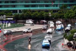 FOTO PEMILU 2014 : Jalanan Jakarta Lengang