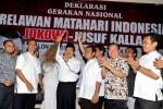 FOTO DEKLARASI DUKUNGAN : Relawan Matahari Indonesia Deklarasi Mendukung Jokowi-JK
