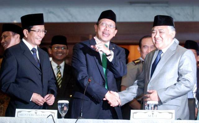 Menteri Agama Lukman Hakim Saifuddin (tengah) (Rachman/JIBI/Bisnis)