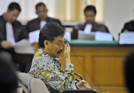 FOTO SIDANG KASUS HAMBALANG : Andi Alfian Mallarangeng Dituntut 10 Tahun Penjara