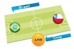 TEBAK SKOR PIALA DUNIA 2014 : Brasil vs Chile