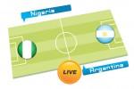 TEBAK SKOR PIALA DUNIA 2014 : Nigeria vs Argentina