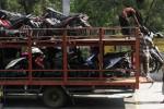 FOTO MUDIK GRATIS 2014 : Motor-Motor Mudik Gratis Tiba di Solo