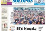 SOLOPOS HARI INI : Imbauan SBY dari Hasil Pilpres 2014 hingga Arus Mudik Lebaran di Solo