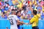 SEMIFINAL BRASIL VS JERMAN : Wasit saat Suarez Gigit Chiellini Pimpin Laga Brasil vs Jerman