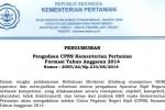 LOWONGAN CPNS 2014 : Kementan Umumkan Formasi CPNS 2014, Ini Syaratnya