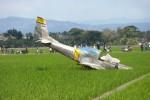 PESAWAT JATUH DI SUKOHARJO : Inilah Penampakan Awak dan Pesawat Latih TNI AU yang Nyungsep di Sawah