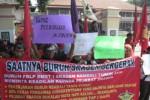 DEMO BURUH SRAGEN : Karyawan Delta Merlin Gelar Aksi, Ini Tuntutan Mereka