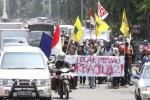 POLEMIK UU PILKADA : Tolak UU Pilkada, Relawan Jokowi Long March Estafet ke Jakarta