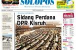 SOLOPOS HARI INI : Sidang DPR Ricuh, Perppu Terancam Diganjal di DPR hingga Prostitusi Dangkrong