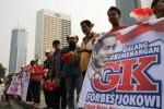 PELANTIKAN JOKOWi-JK : Sukarelawan Ngotot Kirab, Jl. Sudirman Ditutup