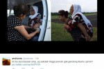 TRENDING SOSMED : Heboh Foto Susi Pudjiastuti Gendong Ibu-Ibu