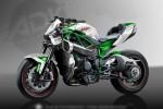 SEPEDA MOTOR BARU : Keren, Begini Tampilan Kawasaki H2R Tanpa Baju
