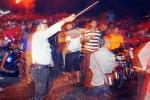 FOTO TAHUN BARU 2015 : Konvoi Motor Bersuara Keras Dibubarkan