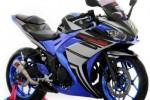 MODIFIKASI SEPEDA MOTOR : Biru Minimalis Tak Kurangi Kesan Kekar Yamaha R25