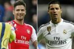 STATISTIK PEMAIN BINTANG : Giroud Lebih Tajam Ketimbang Ronaldo