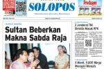 SOLOPOS HARI INI : Sultan Beberkan Makna Sabda Raja hingga Anggota TNI Jadi Penyidik KPK