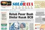 SOLOPOS HARI INI : SOLORAYA HARI INI: Polemik Rehab Pasar Buah hingga Proyek Pelabuhan Wonogiri