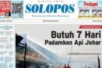 SOLOPOS HARI INI : Pemadaman Api Pasar Johar Butuh 7 Hari