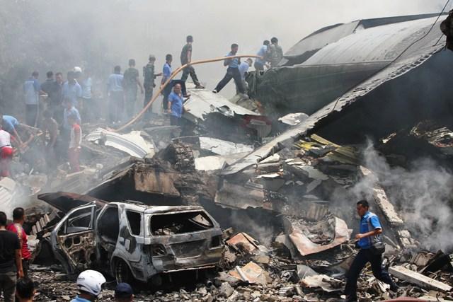 PESAWAT HERCULES JATUH : Penumpang Sipil di Hercules, KSAU: Itu Keluarga TNI