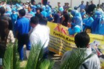 DEMO BURUH : Karyawan RSUD Caruban Mengadu ke Kejaksaan