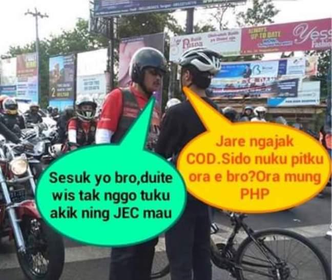 AKTIVIS SEPEDA ADANG MOGE : Ini Kumpulan Meme Lucu Elanto Vs Moge di Jogja