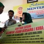 Foto Menteri Sosial Bantu Kube Kediri
