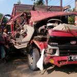 KECELAKAAN SRAGEN : Inilah Penampakan Ringseknya Truk dan Avanza Setelah Tabrakan di Jalan Solo-Sragen