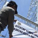 PROYEK ILEGAL : Tak Penuhi Perizinan, Proyek Tower Klipang Dihentikan Satpol PP